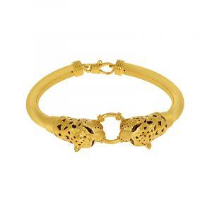 22k Gold Panther Head Cuff Bracelet