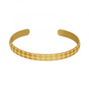 22k Gold Geo Open Cuff Bracelet