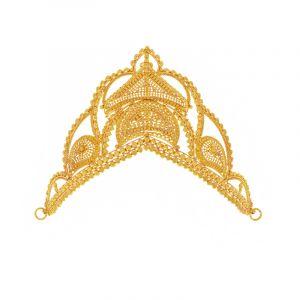 22k Gold Indian Filigree Crown