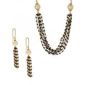 22k Gold Designer Black Diamonds Mangalsutra