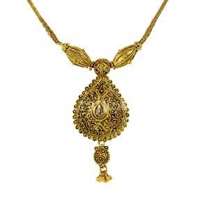 22k Gold Dangling Petite Necklace