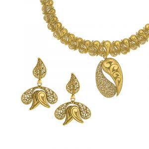 Antique Gold Paisley Necklace