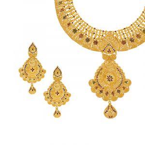 22k Gold Minakari Collar Necklace