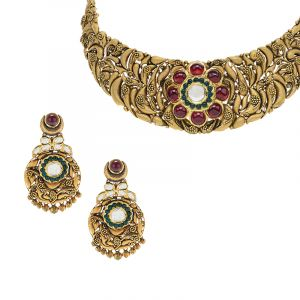 Mughal Antique Gold Necklace