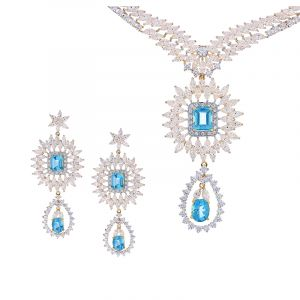 22k Gold Gala CZ Necklace Set