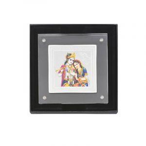 0.999 Silver Radha Krishna Pamp Gift - 50G