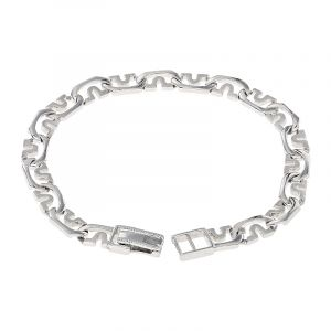 Fancy Links Platinum Bracelet