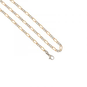 Platinum Gold Figaro Chain - 20