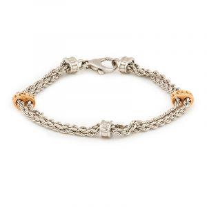 0.950/18k Platinum Rope Chain Platinum Bracelet