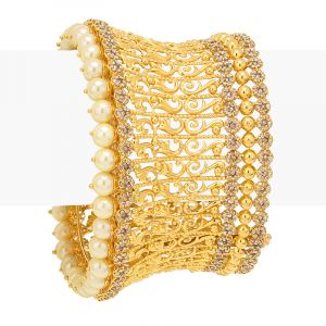 22k Diamond Uncut Bridal Cuff Bracelet