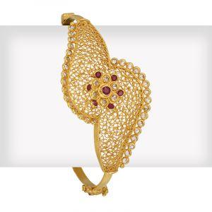 Eclair Uncut Bangle Bracelet