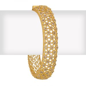 18k Diamond Uncut Diamonds Fancy Bangle
