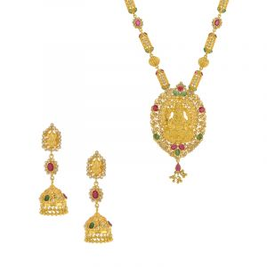 Long Lakshmi Diamond Haaram