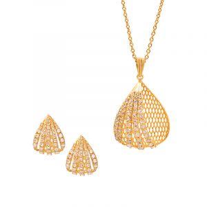 22k Diamond Sia Diamond Pendant Set