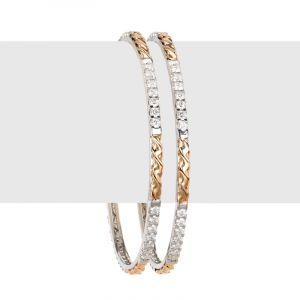 Thin Designer Diamond Bangles