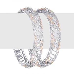Diamond Swirl Flora Bangles