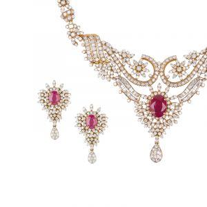 Scarlet Gems Diamond Necklace