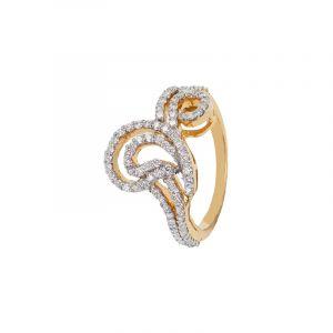 18k Diamond Bulovia Diamond Ring