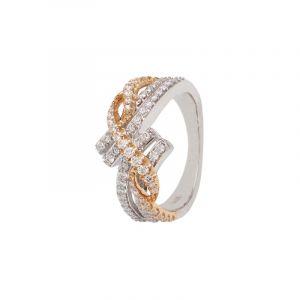 18k Diamond Crissa Knot Diamond Ring