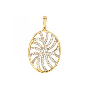 18k Diamond Covario Diamond Pendant