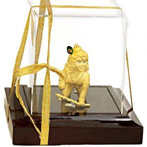 24k Gold Baby Krishna Statue