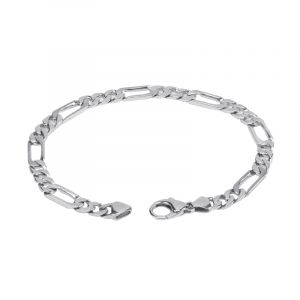 950 Platinum Platinum Figaro Bracelet