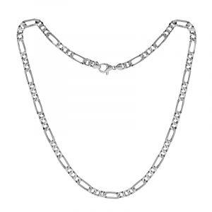 950 Platinum Platinum Figaro Chain
