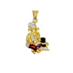 22K Lord Ganesh Pendant