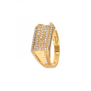 22k Gold Maze CZ Ring