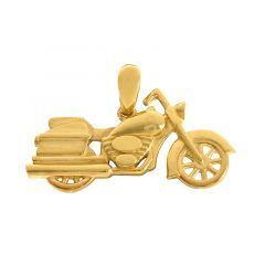 Motorcycle Gold Pendant