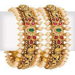 22k Gold Nakshi Antique Pearl Kadas