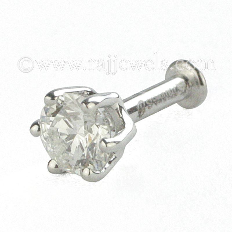 18k Diamond Diamond Stud Nose Pin