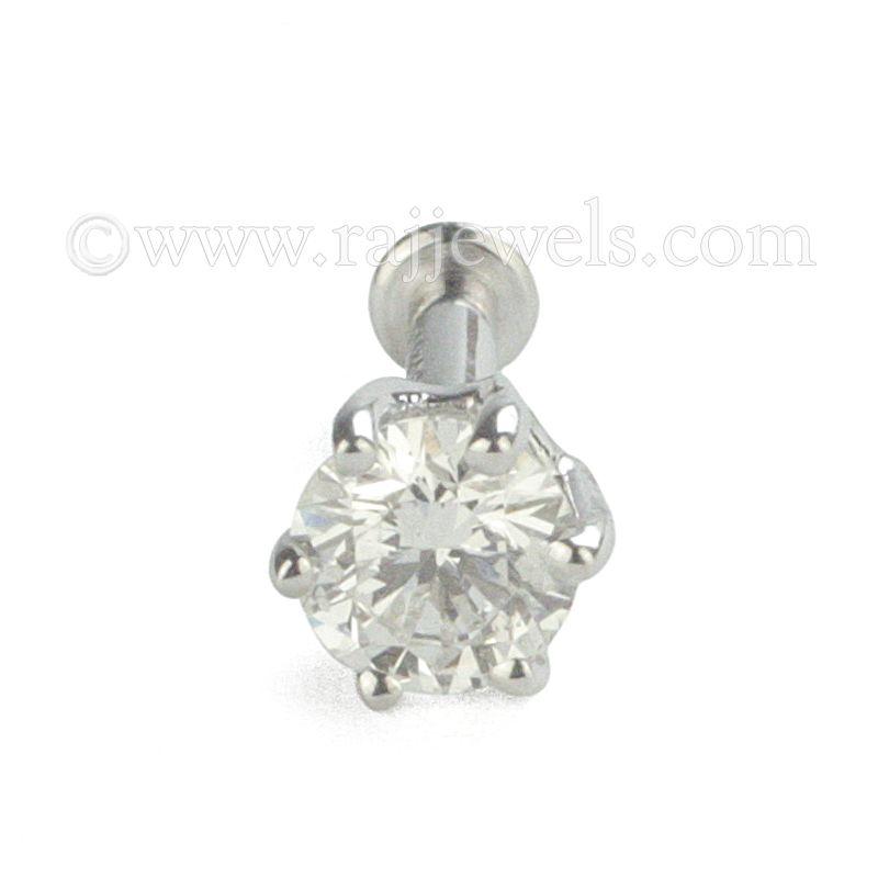 18k Diamond Diamond Nose Stud