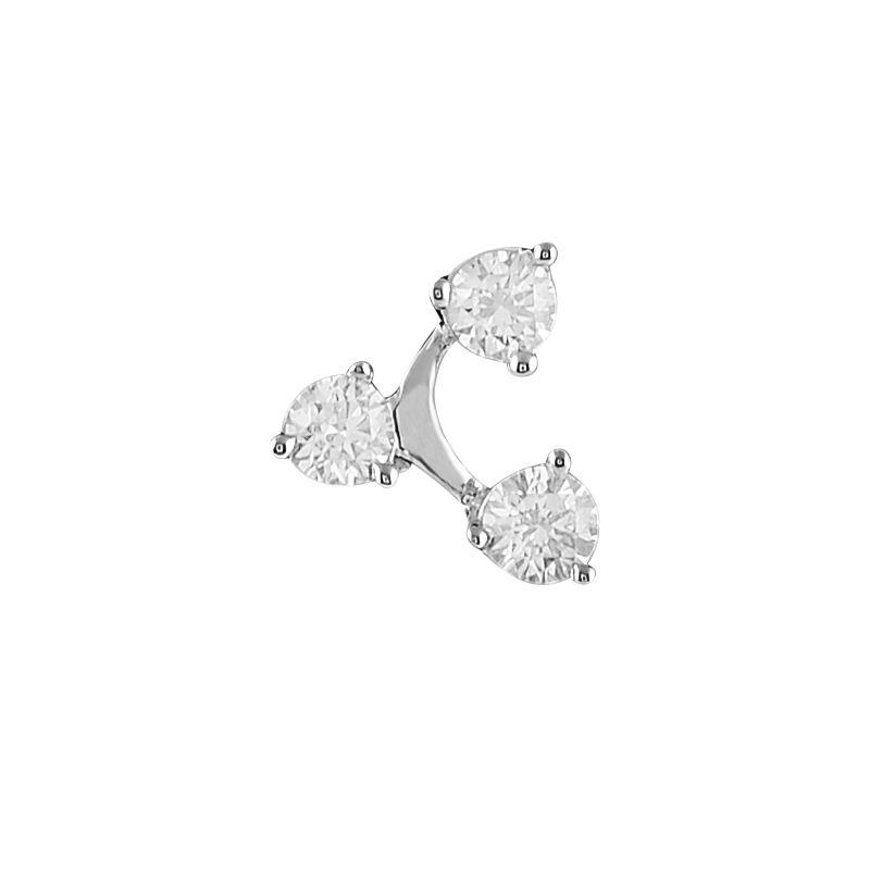 18k Diamond Trio Diamond Nose Pin
