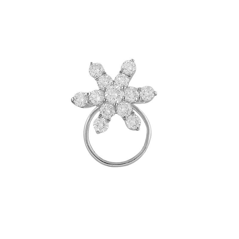 18k Diamond Star Diamond Nose Pin
