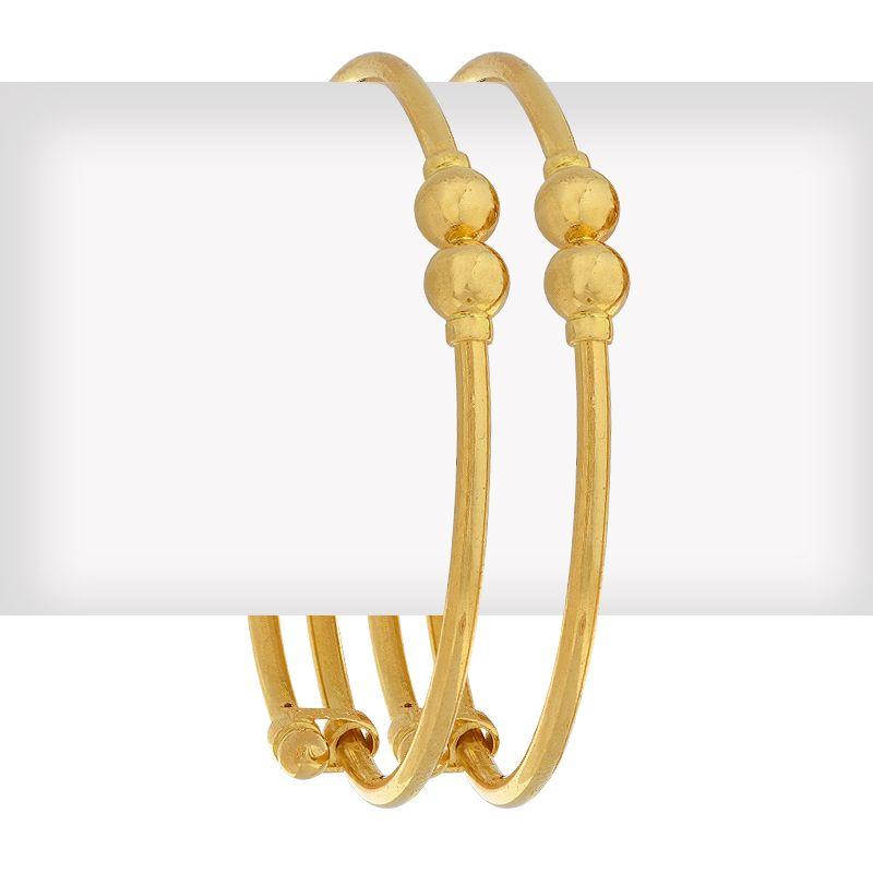 22k Gold Adjustable Baby Ball Bangles