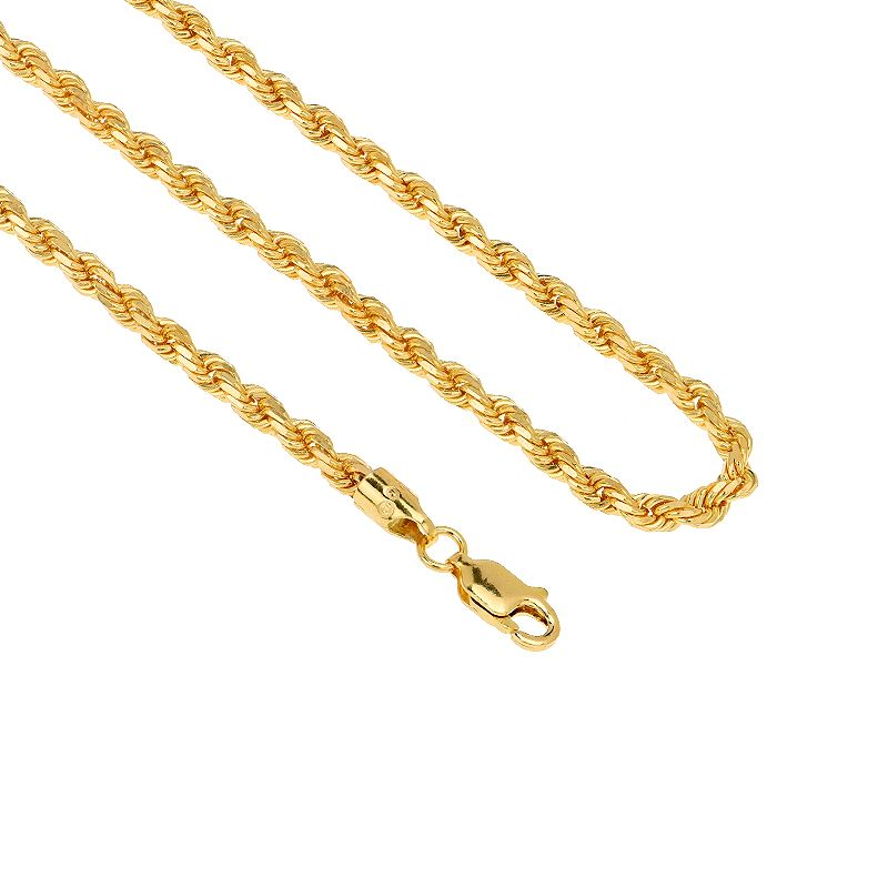 22k Gold Hollow Rope Chain - 18
