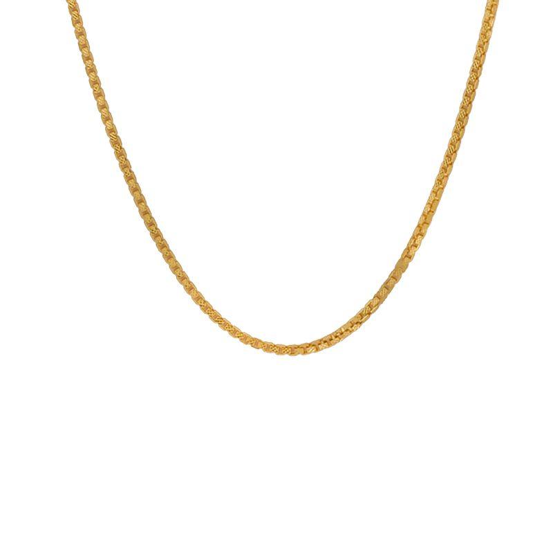 22k Gold Venetian Box Chain - 21