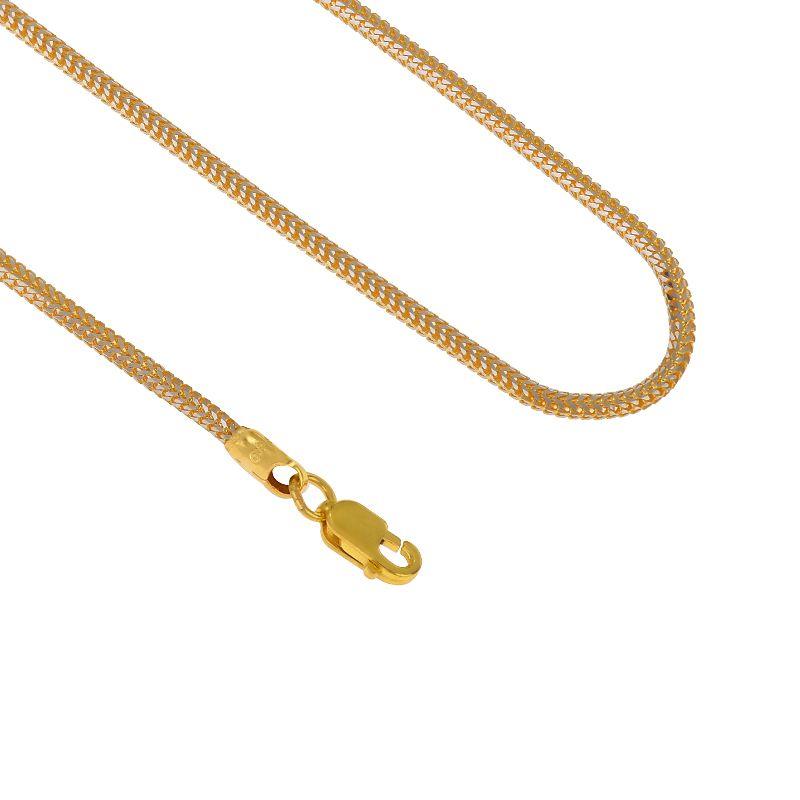 22k Gold Singapore 2-Tone Round Fox Chain - 18