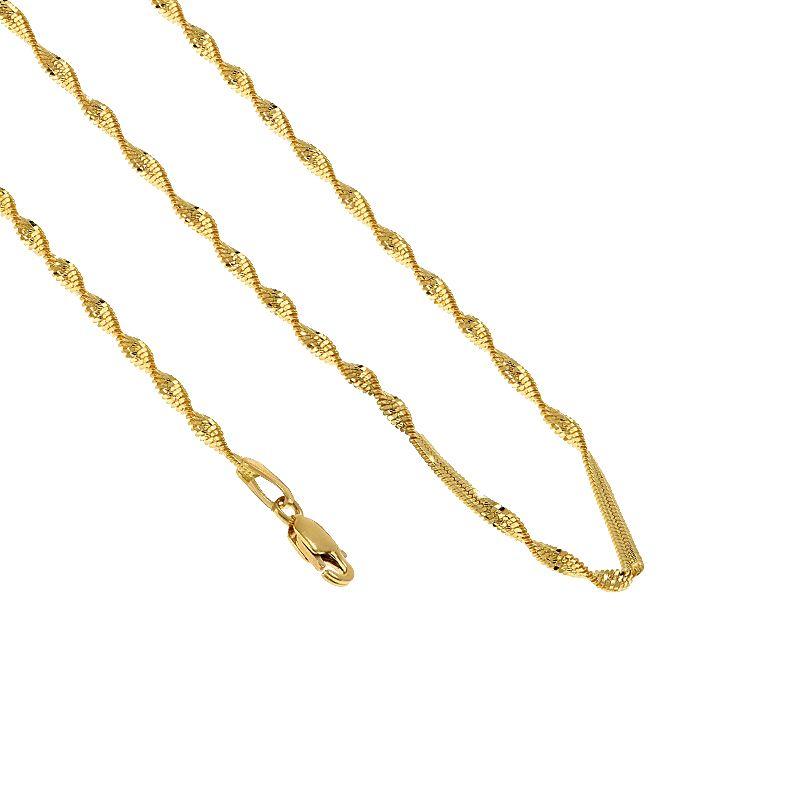 22k Gold Super Disco Gold Chain - 14