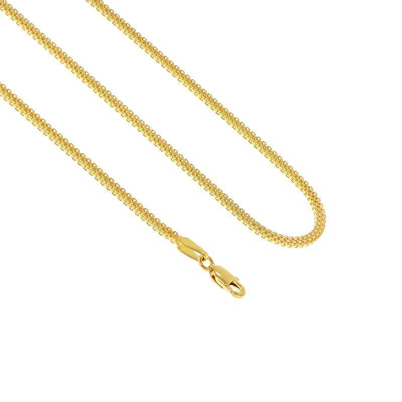 22k Gold Mogambo Square Gold Chain - 16