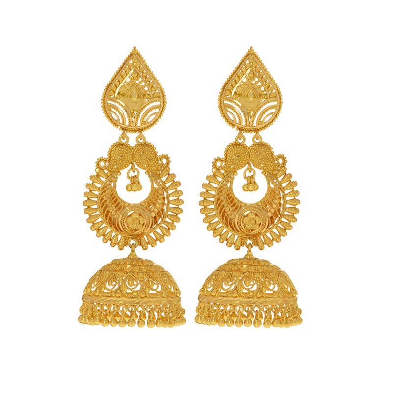 22k Gold 2-Step Jhumka Bali