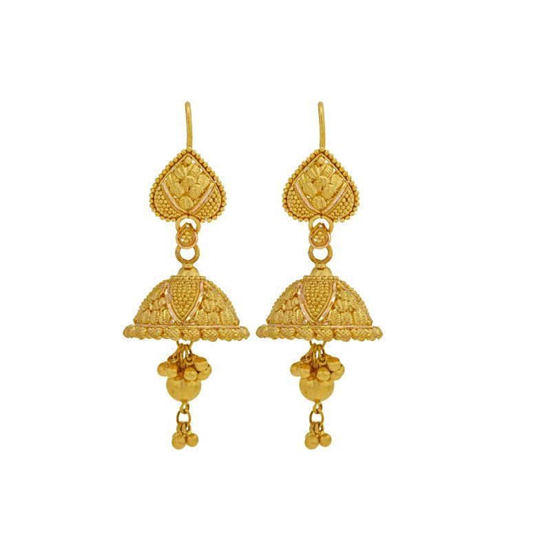 22k Gold Dainty Jhumki Drops