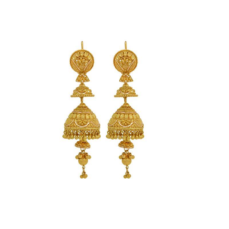 22k Gold Layered Jhumki Drops