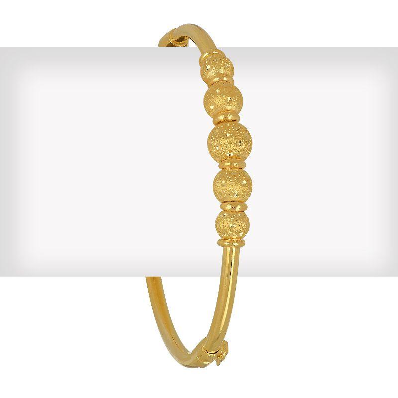 22k Gold Shimmering Balls Bangle Bracelet