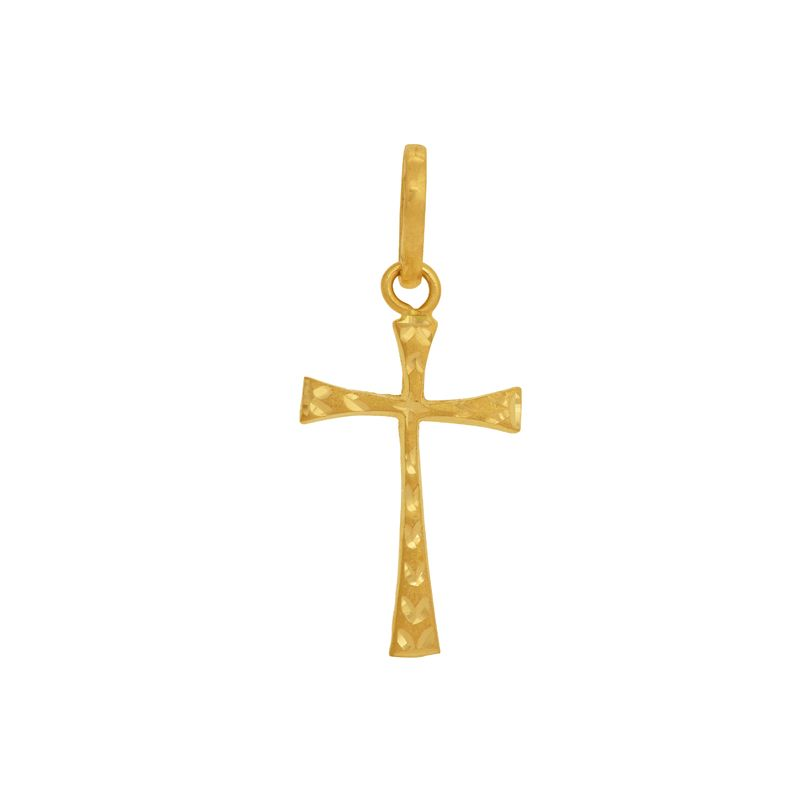 22k Gold Big Cross Pendant