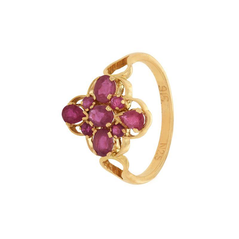 22k Gold Ruby Gold Ring