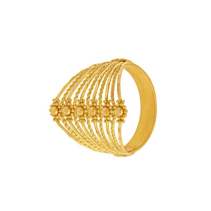 22k Gold Spiral Filigree  Ring