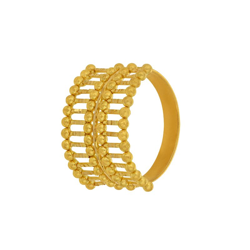 22k Gold Duet Gold Band Ring