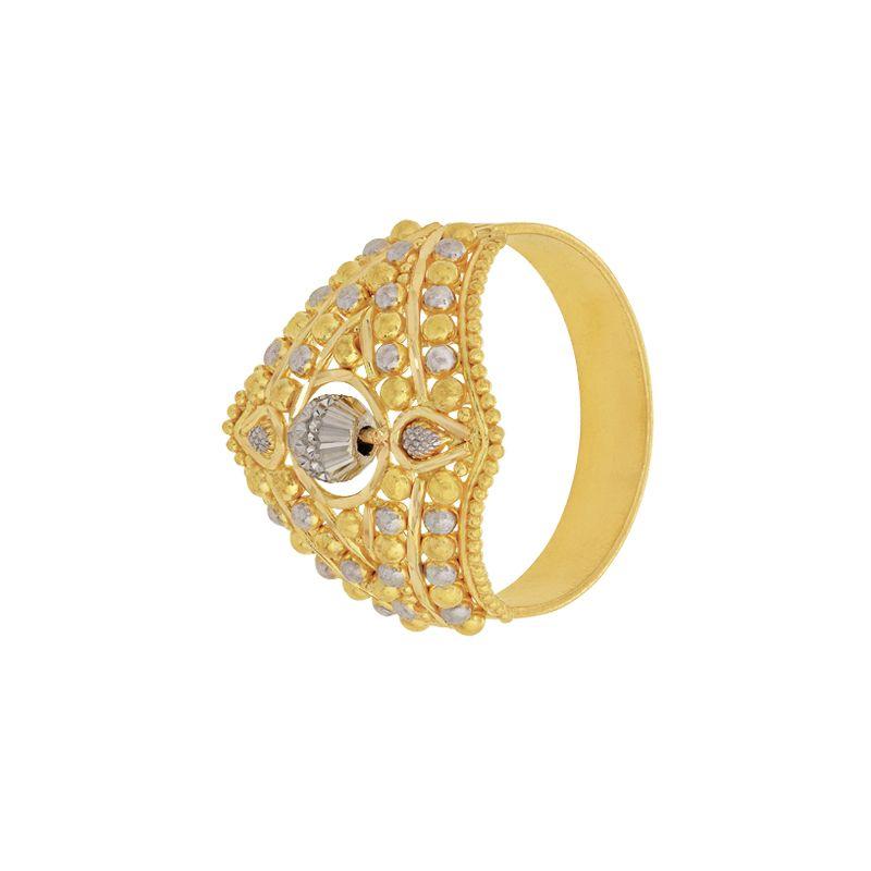 22k Gold Filigree Two-tone Ring